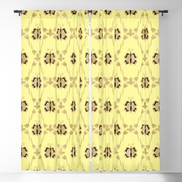 Victorian beige flutterbyes. Blackout Curtain