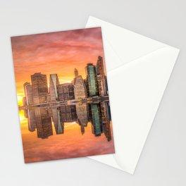 New York City Morning Skyline NYC Stationery Cards