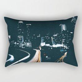 Atlanta Georgie Skyline at Night Rectangular Pillow