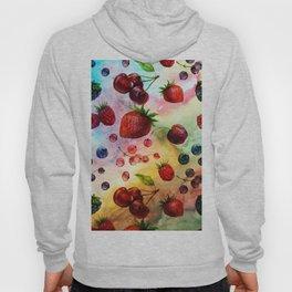 Summer fruits - Fresh strawberry berry pastel pattern Hoody