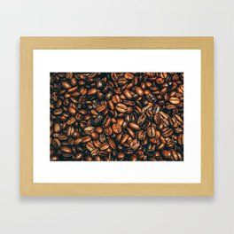 coffee floor Framed Art Print