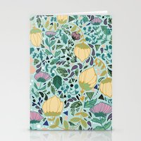 flower pattern Stationery Cards featuring Flower Pattern by Jo Cheung Illustration