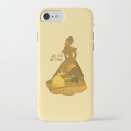 As Old as Time - Yellow iPhone Case