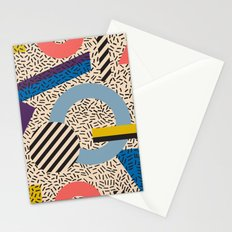 Memphis Inspired Pattern 3 Stationery Cards