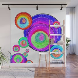 Colorful Secret Geometry | painting by Elisavet #society6 Wall Mural