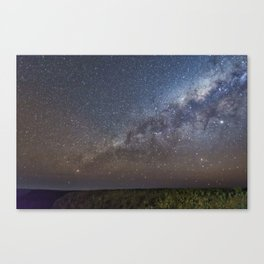 Milky Way over Klip River Valley in Namibia Canvas Print