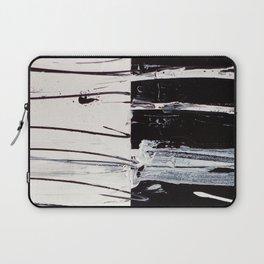 Black & White Close Up Laptop Sleeve