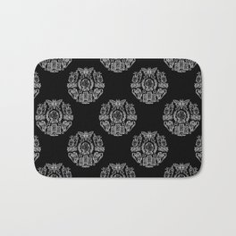 Witch Coven: Tarot Cards and Crystal Balls (White) Bath Mat