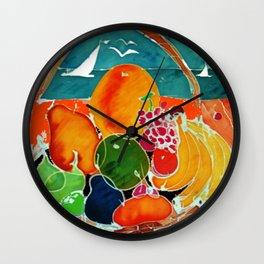 Fruit Bounty Australia           by Kay Lipton Wall Clock