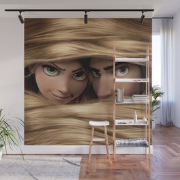 Long -haired girl Wall Mural
