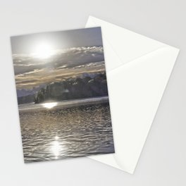 Sun Rising Over Lake Stationery Cards