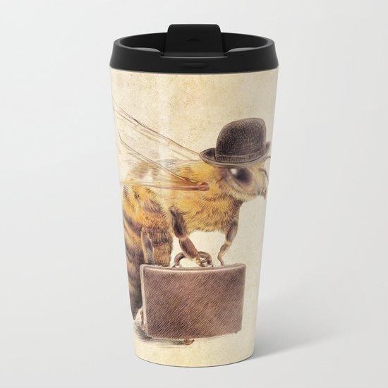 Worker Bee Metal Travel Mug