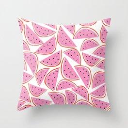 Graphic Watermelon Slice Throw Pillow
