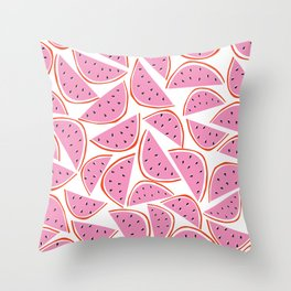 Graphic Watermelon Slice Throw Pillow