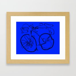 10-Speed -- Blue Framed Art Print