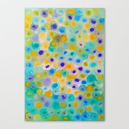 """Panka"" Original oil finger painting by Monika Toth Canvas Print"