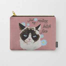 Resting Cat Face Carry-All Pouch