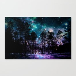 One Magical Night... teal & purple Canvas Print