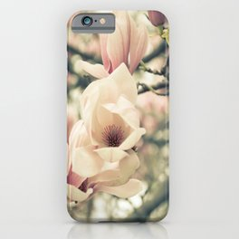 Magnolia Tree Bloom.  Flower Photography iPhone Case