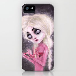 lost forever in a dark space iPhone Case