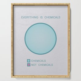 Everything is Chemicals Serving Tray
