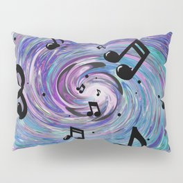 Musical Notes in Blue Pillow Sham