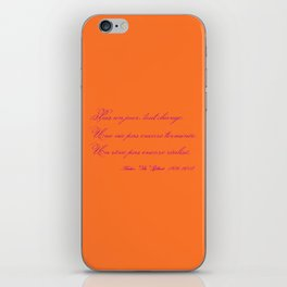 Rememberance, orange iPhone Skin