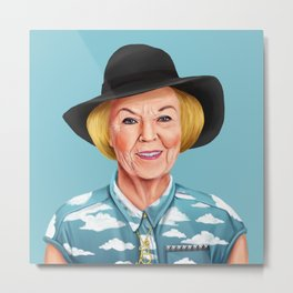 Hipstory - Queen Beatrix of the Netherlands Metal Print