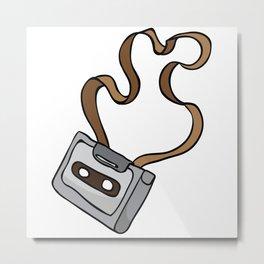 audio cassette Metal Print