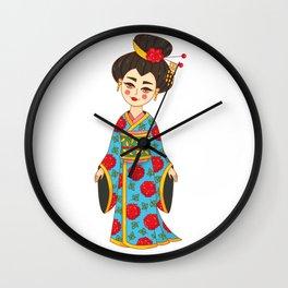 Geisha Japan girl Wall Clock