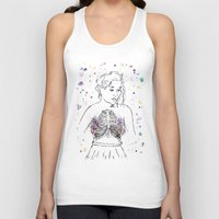 lungs Tank Tops featuring Lungs by Sarah Hartnell