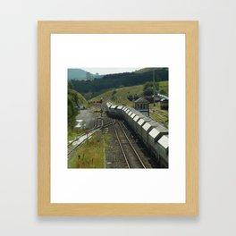 Silver Train Framed Art Print