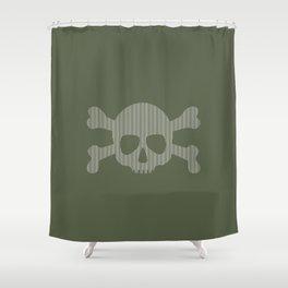 skull stripes Shower Curtain