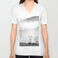 arizona V-neck T-shirts featuring Arizona by Whitney Retter