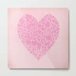 Rose Hearts Metal Print
