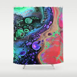 Jasper Sea - coral Shower Curtain