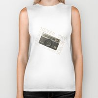 vintage camera Biker Tanks featuring CAMERA by Monika Strigel