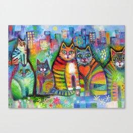 Urban Cats Canvas Print