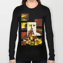 Face on Yellow Crying Red Long Sleeve T-shirt