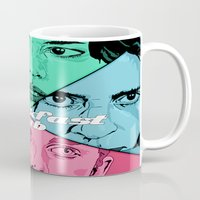 the breakfast club Mugs featuring Breakfast Club Colors by David Amblard