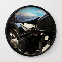 Vintage motorcycle watercolor painting Wall Clock