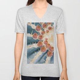 Barrel Cactus Blooms Unisex V-Neck