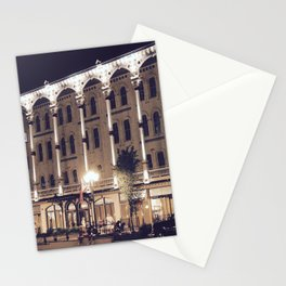 Saratoga Springs at Night Stationery Cards