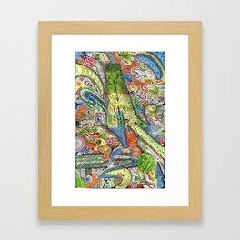 Madness Doodle Framed Art Print