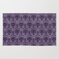 haunted mansion Area & Throw Rugs featuring The Haunted Mansion by GeekCircus