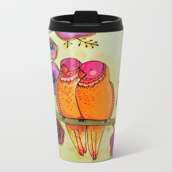 love birds Metal Travel Mug