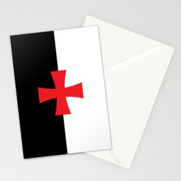 Knights Templar Flag - High Quality Stationery Cards