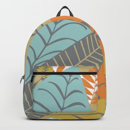 Bright Tropical Leaf Retro Mid Century Modern Backpack