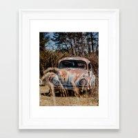 volkswagen Framed Art Prints featuring Volkswagen by ken fager