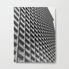 On Repeat Balcony Architecture - Honolulu, Hawaii Metal Print